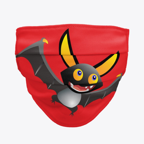Cute Bat Red T-Shirt Front