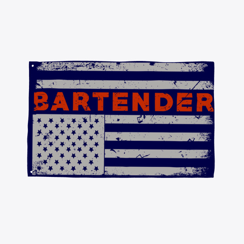 America Bartender Flag Pride Dark Navy T-Shirt Front