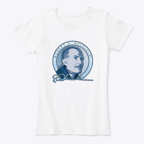 Heinlein Signature White T-Shirt Front