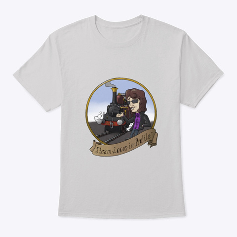Steam Locos In Profile   Terrier Light Steel T-Shirt Front