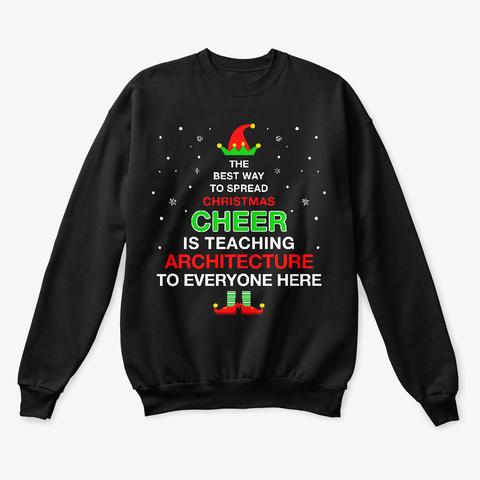 Christmas Elf For Architecture Teacher Black T-Shirt Front