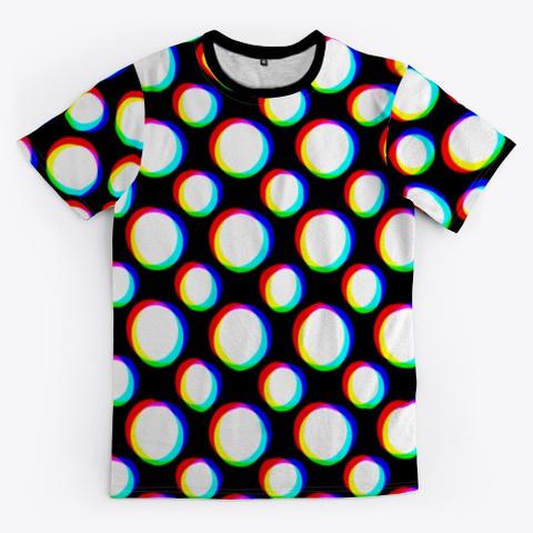 Polka Blurs Black T-Shirt Front