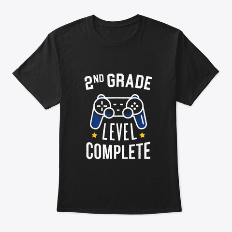 2nd Grade Level Complete End Of The Black T-Shirt Front