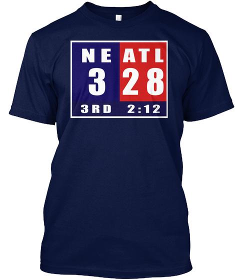 Ne 3 3rd Atl 28 2:12 Navy T-Shirt Front