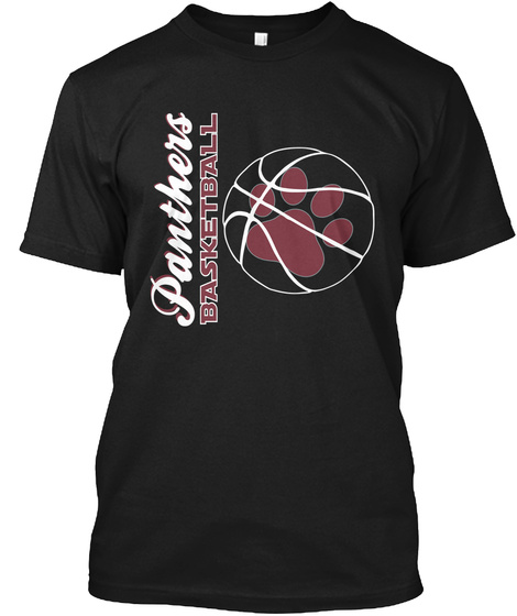 Panthers Basketball Black T-Shirt Front