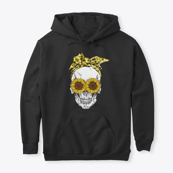 Skull With Sunflower Products from Teefavor   Teespring