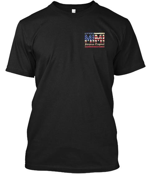 Mimi American Original Black T-Shirt Front