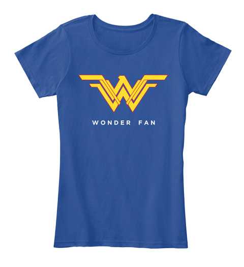 Wonder Fan Deep Royal  Women's T-Shirt Front