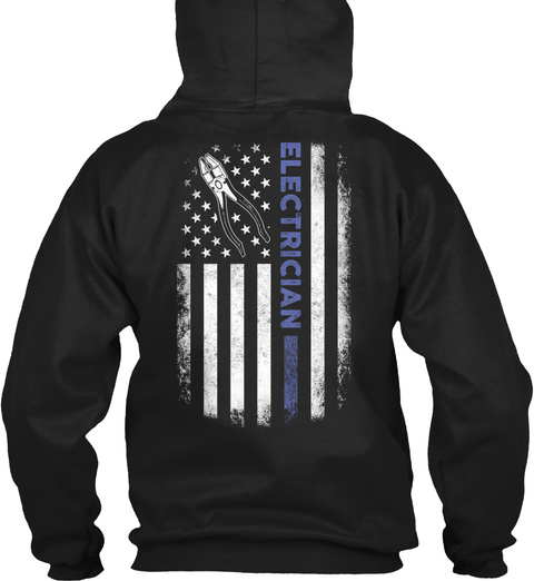 Electrician Hoodie Christmas Special Black T-Shirt Back