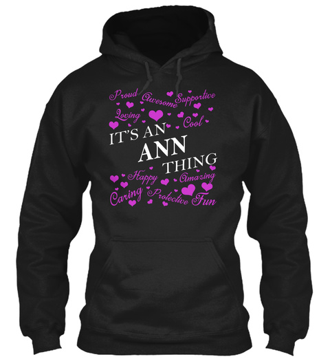 Its An Ann Thing Black T-Shirt Front