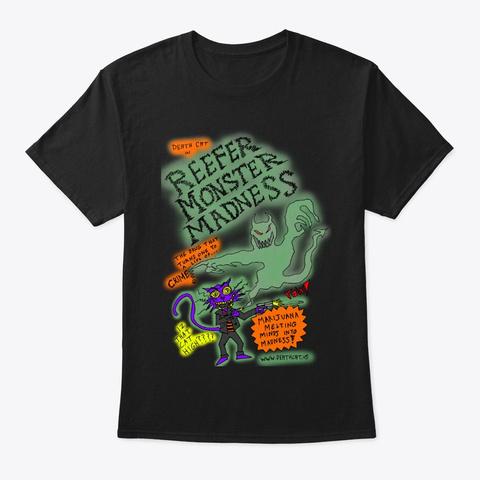 Reefer Monster Madness Black T-Shirt Front