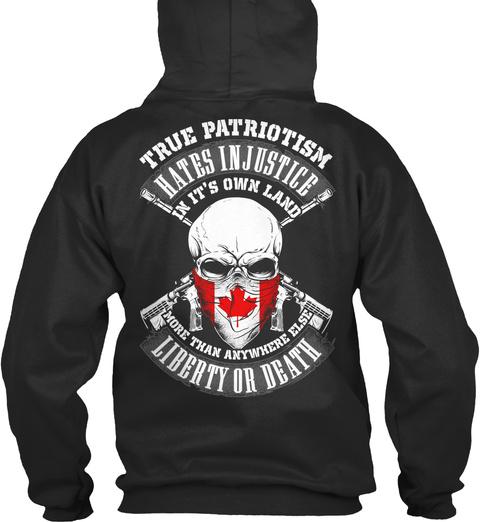 True Patriotism Jet Black T-Shirt Back