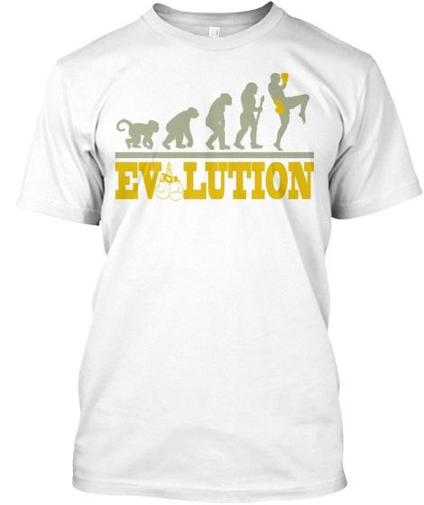 Evolution White T-Shirt Front