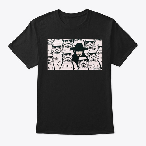 Hacker Amongst Us Black T-Shirt Front