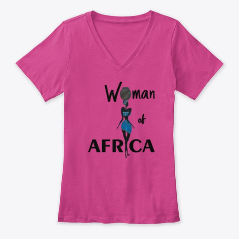 Woman Of Africa Berry T-Shirt Front