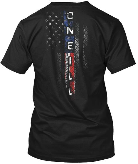Oneill Family American Flag Shirt Black T-Shirt Back
