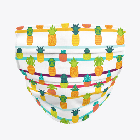 Awesome Pineapple Pattern Mask Washable Standard T-Shirt Front