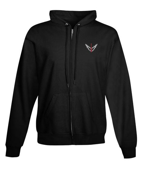 Electrician Zipper Hoodie Xmas Spl Black T-Shirt Front