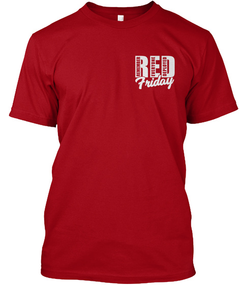 Red Friday T Shirts Deep Red T-Shirt Front