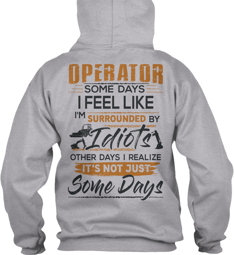 Awesome Operator Sport Grey T-Shirt Back