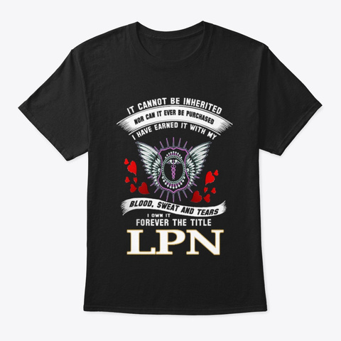 Licensed Practical Nurse   611 Black T-Shirt Front