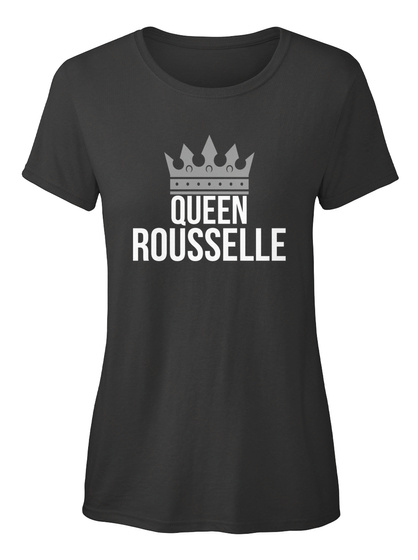 Rousselle   Simply Queen Rousselle Black T-Shirt Front
