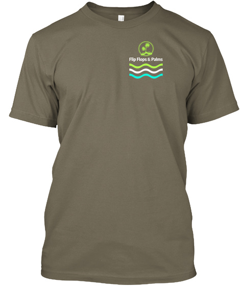 Flip Flops &  Palms Venetian Gray T-Shirt Front