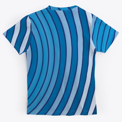 Archimedean Spiral Series   Light Blues Standard T-Shirt Back