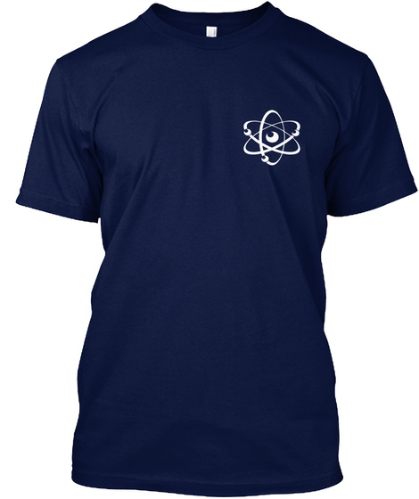 May The Force Be With You! Navy Camiseta Front