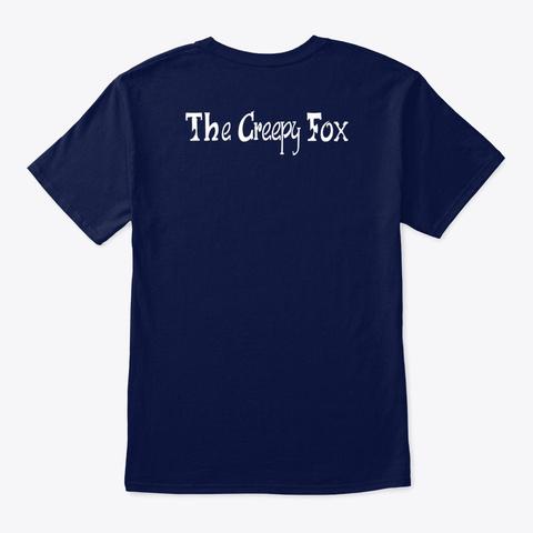 The Creepy Fox: Holiday Fox Navy T-Shirt Back