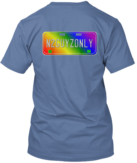 N2 Guyzonly! Denim Blue T-Shirt Back