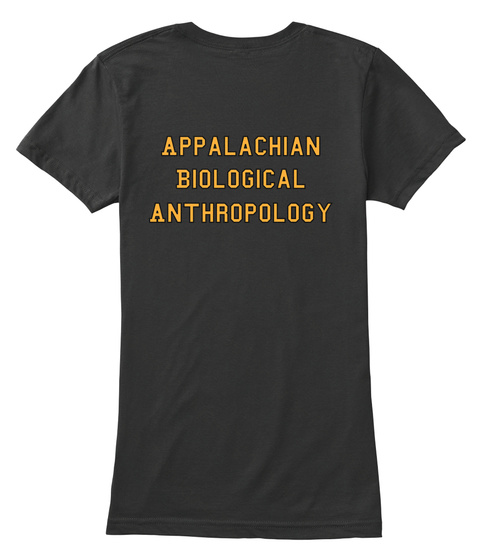 Appalachian Biological Anthropology Black Women's T-Shirt Back