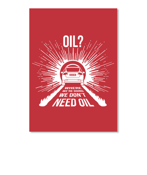 Oil? X Sticker [Int] #Sfsf Bright Red Sticker Front