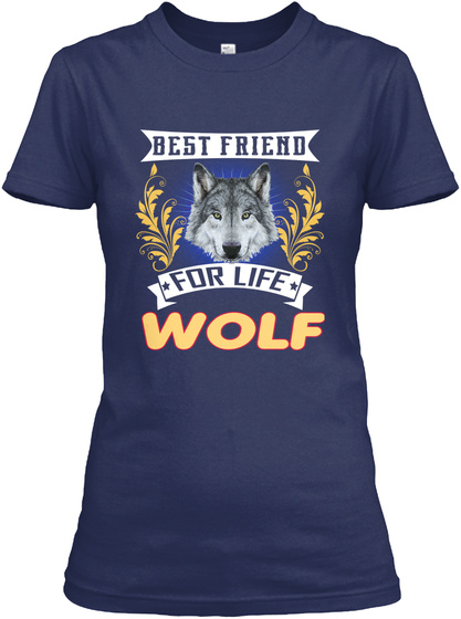 Wolf Breed Lover Navy T-Shirt Front
