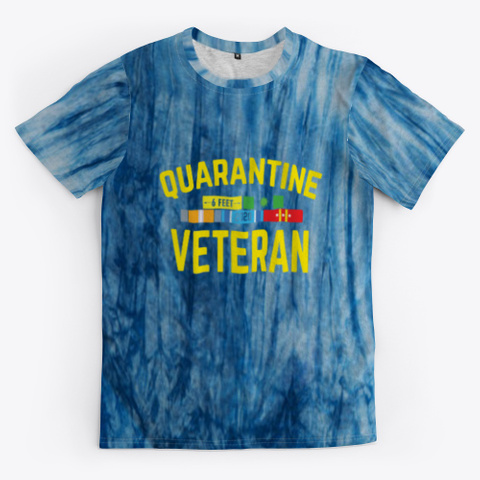 covid 19 veteran tie dye shirt