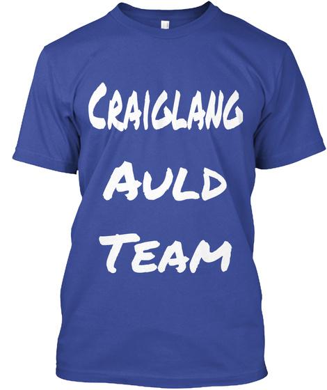 Craiglang Auld Team Deep Royal T-Shirt Front