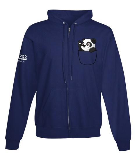Pocket Panga Hi Zip Up Hoodie Sweatshirt Front