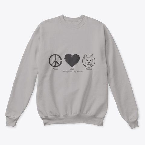 Cdr Peace Love Rescue Light Steel  T-Shirt Front