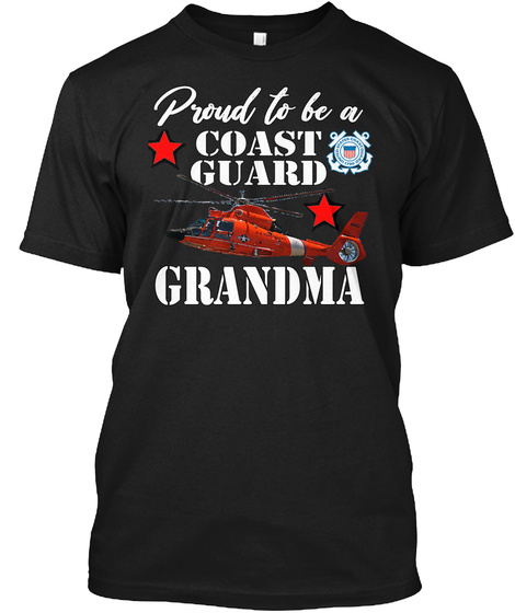 Proud To Be A Cg Granda Ma Black T-Shirt Front