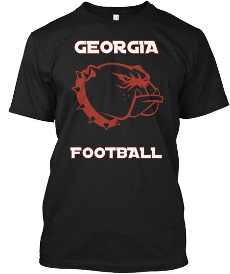 Georgia Football Black T-Shirt Front