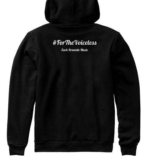 Forthevoiceless Zach Brunette Music Black T-Shirt Back