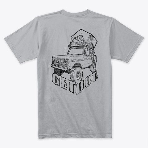 Get Out #2 Heather Grey T-Shirt Back