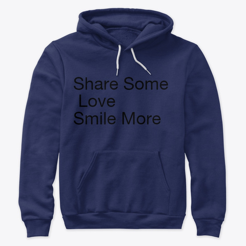 Share Smiles Navy Sweatshirt Front