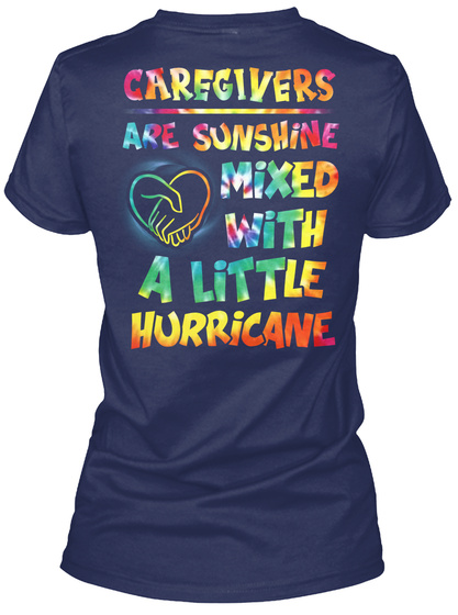 Awesome Caregiver Navy T-Shirt Back