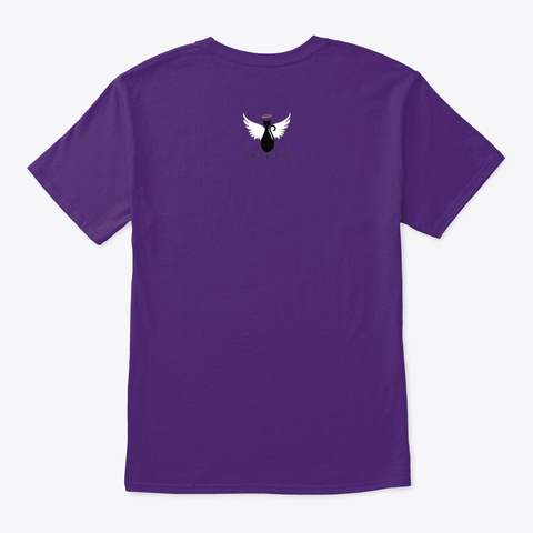 Pansy Watercolor T Shirt Purple T-Shirt Back