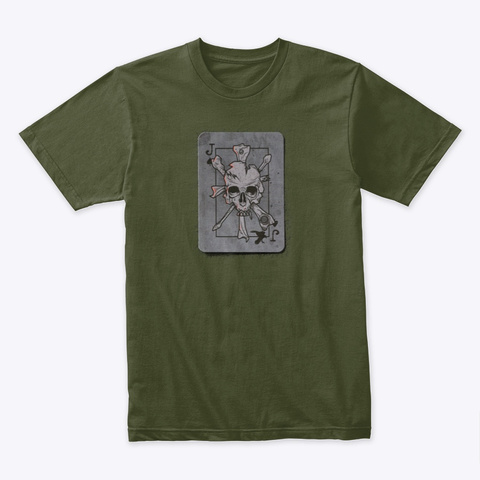 Jack 4, Sanction Jack Of Spades Military Green T-Shirt Front