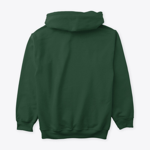 Hallmark Hoodie Forest Green T-Shirt Back