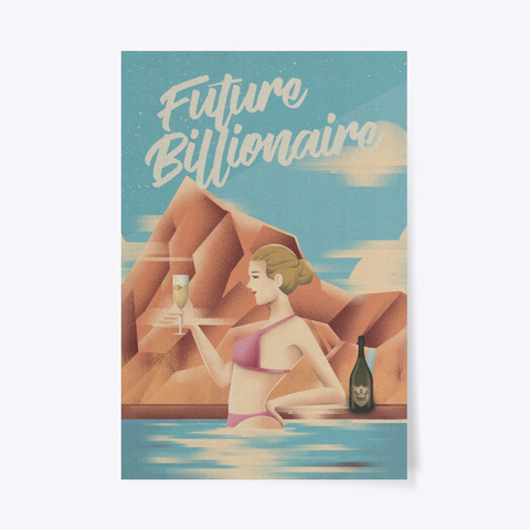 Future Billionaire   Alux.Com Poster #2 Dark Grey T-Shirt Front