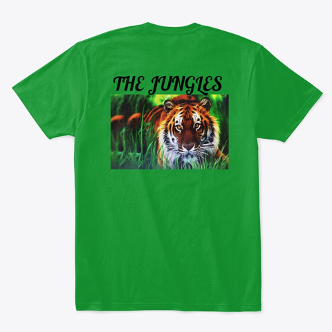 Sellers Tigers T Shirts,  Kelly Green T-Shirt Back