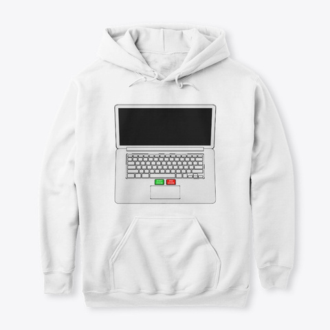 Zoom Start & End Button 01 White T-Shirt Front